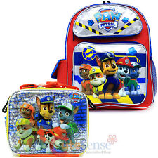 Paw Patrol School Backpack Insulated Lunch Bag 2pc Set  Nickelodeon Boys Set