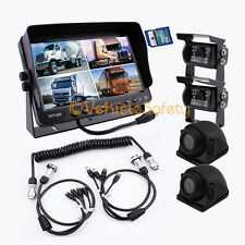 "4AV TRAILER CABLE 7"" MONITOR WITH DVR BACKUP SYSTEM SAFETY REAR VIEW CAMERA KIT"