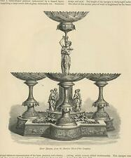 ANTIQUE EPERGNE TABLE CENTERPIECE GRECIAN WOMAN STYLE DEER VICTORIAN ART PRINT