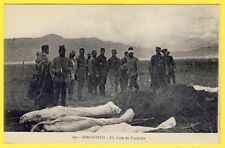 cpa GUERRE BALKANS YUGOSLAVIA MACÉDOINE SOROVITCHEVO Soldats CIMETIERE CADAVRES