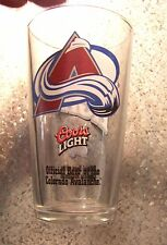 Coors Light Official Beer of the Colorado Avalanche pint size glass