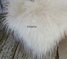 "20"" x 20"" Long Hair White Faux Fur Fabric Craft Costume Newborn Prop NEW!"