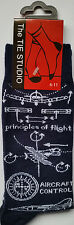 Principles of Flight Aviation Aircraft Control Unisex Socks Adult Size 6 - 11