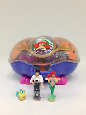 POLLY POCKET Disney 1995 Little Mermaid Ariel Playcase **RARE & COMPLETE**