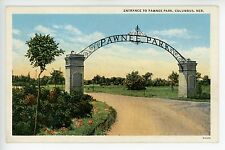 Pawnee Park -Vintage Parks & Recreation Postcard- Columbus NE ca. 1920s
