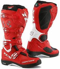 STIVALI BOOTS MOTO MX CROSS ENDURO TCX COMP EVO MICHELIN ROSSO RED WHITE TG 44