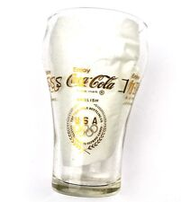 Coca Cola Coke USA Glas Glass - Olympia 1976 22 Karat Gold Logos