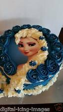 Cake topper edible  image icing Frozen Elsa REAL FONDANT not rice paper