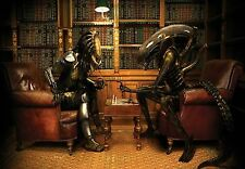 ALIEN BEINGS CHESS GAME  COMPUTER MOUSE PAD IMAGE 1  FABRIC TOP RUBBER BACKED
