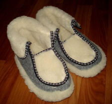 NEW! Ukrainian Slippers Felt merino Boots Sheep Wool Womens/Mens Size 40/9/6.5