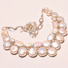 FRESH SOUTH SEA PEARL .925 STERLING SILVER NECKLACE 18""