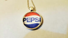 Pepsi Cola Soda Pop Collectible Pendant Charm Necklace Jewelry in Glass NEW