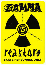 Kryptonics Wheels Gamma Reaktors Old Skateboard Sticker skate snow surf board