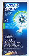 Oral-B/Braun Pro 1000 CrossAction Rechargeable Electric Toothbrush NEW