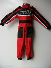 NEW AGE 7-8 RED WULFSPORT KIDS OFF ROAD OUTDOOR PLAY SUIT QUAD OVERALLS CR CHILD