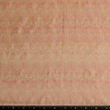 "Pink/Cream Satin Brocade Jacquard 100% Silk Fabric 44"" Wide, By Yard (JD-353C)"