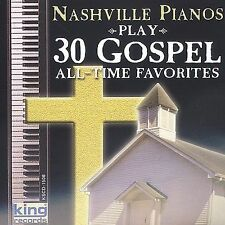 Play 30 Gospel All-Time Favorites by Nashville Pianos (Cassette, Aug-2002, King)