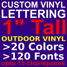 "1"" Custom Vinyl Lettering. Vinyl STICKERS, DECALS, LETTERS for WALL,WINDOW,CAR"
