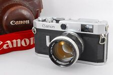 Near MINT Canon Model P Rangefinder Body w/50mm F1.4 Leica Mount Lens from Japan