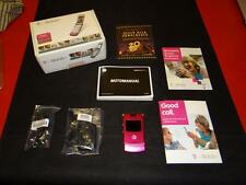 Motorola T-Mobile RAZR V3 Hot Pink Cell Phone + Case + Car Charger