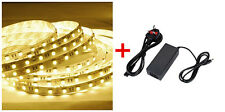 24V DC 5M Warm White SMD5050 LEDsx300 Strip Tape Light+Power Adapter Waterproof