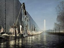 Vietnam Memorial Wall Line Of Duty Print by Rod Chase Open Edition  Artwork
