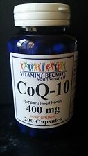 Co Q-10 400 mg 200 Capsules Coq10 Co Q10 Coenzyme Anti Aging Cardiovascular