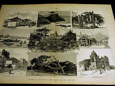 Monterey California HOTEL DEL MONTE CYPRESS CARMEL CHINESE VILLAGE 1887 Lg Print