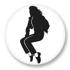 "Pin Button Badge Ø25mm 1"" Michael Joseph Jackson King of Pop MJ Bad Disco Funk"