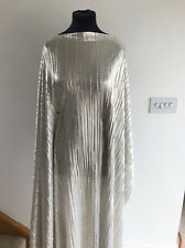 Silver/Gold Molten Metallic Micro Pleat  Stretch Jersey Dressmaking Fabric 2017