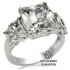 Women's Ring Wedding 5 Ct Princess Cut Stainless Steel Polished Size 9 #AWF