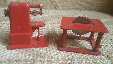 Antique Jenson Steam Engine Toy Metal Table Saw Drill Press Salesman Sample size