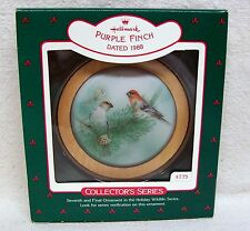 "Hallmark Ornament #7 In The ""Holiday Wildlife"" Series 1988 Purple Finch"