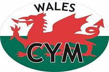 Wales Welsh CYM Car Sticker Oval Sticker Decal Graphic Vinyl Label