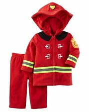 NEW Carter's Halloween Red Fire Man Plush Costume 12m NWT Top Jacket Pants Set