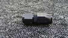AN -6 AN6 BLACK JIC Straight Swivel FAST FLOW Fuel Oil Braided Hose Fitting