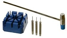New Watch Band Link Remover Tool Kit (Hammer, Watch Holder, and 3 Pins)