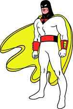 "Space Ghost Cartoon Car Bumper Sticker Decal 4"" x 5"""