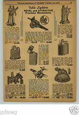 1948 PAPER AD Ship's Wheel Windmill Cannon Hellcat Airplane Cigarette Lighter