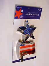 2 Patriotid Star & Flag COOKIE CUTTERS Party DECORATION 4th of July Veterans Day