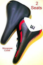 Mongoose Cionlli Bicycle Seats For Mountain Bike BMX & More Leather Fabric HOT!!