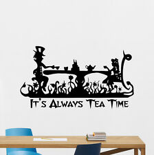 Alice In Wonderland Wall Decal Tea Time Kitchen Vinyl Sticker Art Poster 133crt