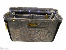 Pursen Illumin Purse Organizer Metallic Gold Small Expandable LED Lights Insert