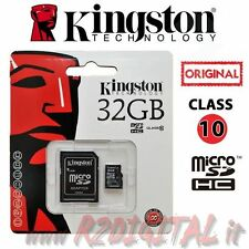 KINGSTON MICRO SD 32 GB CLASSE 10 TRANSFLASH SCHEDA MEMORIA MEMORY CARD