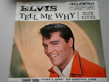ELVIS~SLEEVE ONLY~TELL ME WHY~BLUE RIVER~RCA~~POP /ROCKABILLY 45