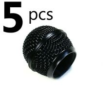 (D43) 5x Mesh Microphone Grille Fits Shure SM58 Microphone Die-cast, Black