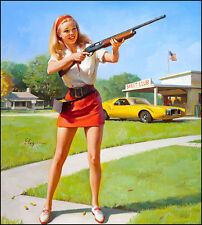 "Vintage Pin Up Skeet Club 11 x 14""  Photo Print"