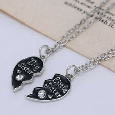 Sister's Fashion Broken Heart Pendant Necklace Popular c