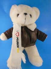 "White Teddy Bear in Aviator Jacket 13"" Pearson Air Museum Vancouver Wa"