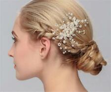 Pearls Wedding Hair Comb Crystal Bridal Accessories Rhinestone Headpiece 1 Piece